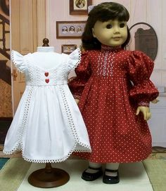 Pinafore and Frock in Red and White by Keepersdollyduds, via Flickr