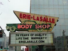 Erie-Lasalle Body Shop sign - Chicago