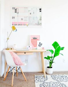 Home Remodel Open Concept Beautiful at home office creative workspace!Home Remodel Open Concept Beautiful at home office creative workspace! Bureau Design, Workspace Design, Home Office Design, Home Office Decor, Diy Home Decor, Office Ideas, Office Workspace, Small Workspace, Study Design