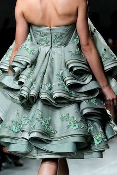 Mint Green on the Runway