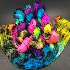 Unicorn Party on Jimmy Sock, hand dyed by Hauteknityarn https://www.etsy.com/listing/589093675/jimmy-sock-hand-dyed-yarn-sock-yarn