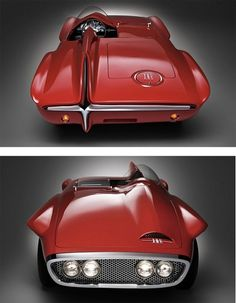 1960 Plymouth XNR, a retro futuristic concept car designed by Virgil Exner Sr. > was built on a Valiant chassis as an answer to the popularity of Corvettes by the end of the Plymouth, Lamborghini, Ferrari, Retro Futuristic, Amazing Cars, Hot Cars, Custom Cars, Concept Cars, Luxury Cars