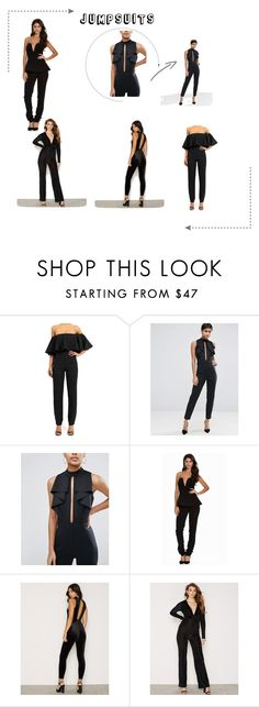 """Jumpsuit"" by wendelamalmlov on Polyvore featuring ASOS, AQ/AQ and NLY Trend"