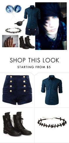 """""""~stands behind school licking sucker~ -Ciel"""" by kawaii-kittens2 ❤ liked on Polyvore featuring Masquerade, Pierre Balmain, LE3NO, Chanel, men's fashion and menswear"""