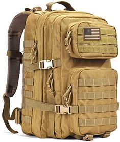 """Rothco Black Tactical Foldable Backpack 18/"""" Customizable MOLLE Bag Pack 27710"""