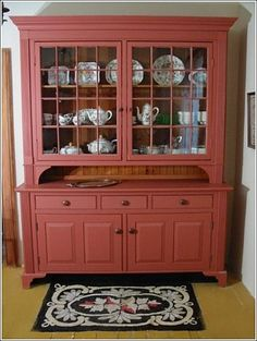 Painted Hutch | Canadian Wood Craftsman » 19th Century Farm Kitchen