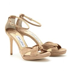 MARION SUEDE SANDALS  seen @ www.mytheresa.com