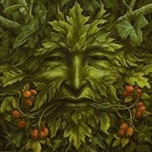 the watchful eyes of the Green Man himself