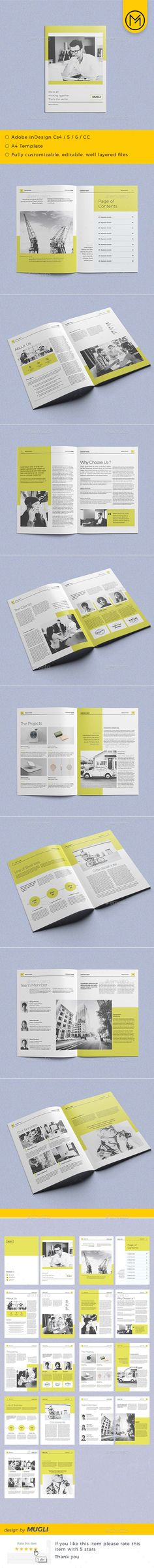 Simple & Clean Brochure - #Corporate #Brochures Download here: https://graphicriver.net/item/simple-clean-brochure/19331896?ref=alena994