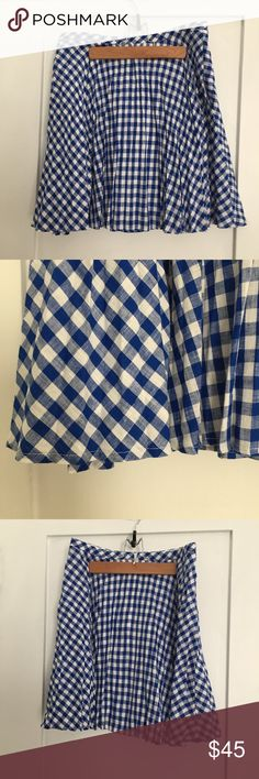 New with tags J.Crew Gingham Pleated Mini Skirt New with tags J.Crew Gingham Pleated Mini Skirt, size 2. Could also fit a 4. Adorable! J. Crew Skirts Mini