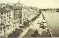 1930.  La Banqueta, actualment la Avinguda Blondel de Lleida