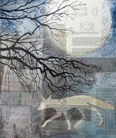 "Saatchi Art Artist Maya Kuvaja; Collage, ""Life on the Moon"" #art"