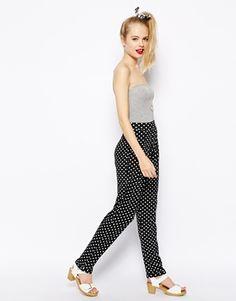 ASOS+Spot+Print+Peg+Trousers