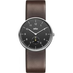 Braun BN0024BKBRG Mens Black Brown Watch