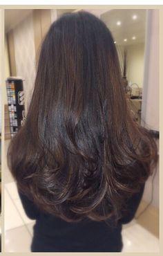 32 Ideas For Hair Goals Long Balayage Long Layered Hair, Long Hair Cuts, Long Hair Layer Cut, Beautiful Long Hair, Gorgeous Hair, Brunette Long Layers, Long Brunette Hair, Hair Highlights, Balayage Hair