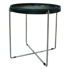 Bamboo Coffee Table | Croc Leather Top, Stainless Steel Frame