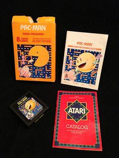 Pac-Man Atari 2600 Video Game Cartridge