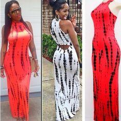 Tie dye maxi dress wholesale
