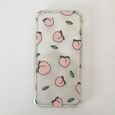 iPhone 6 6s phone case This is a clear iPhone case with peach patterns  scattered 9f713eb21861
