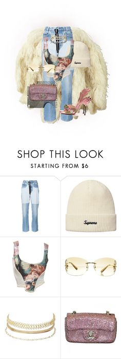 """""""Untitled #635"""" by deaja-xx ❤ liked on Polyvore featuring Ralph Lauren Collection, Off-White, Vivienne Westwood, Louis Vuitton, Charlotte Russe, Chanel and Prada"""