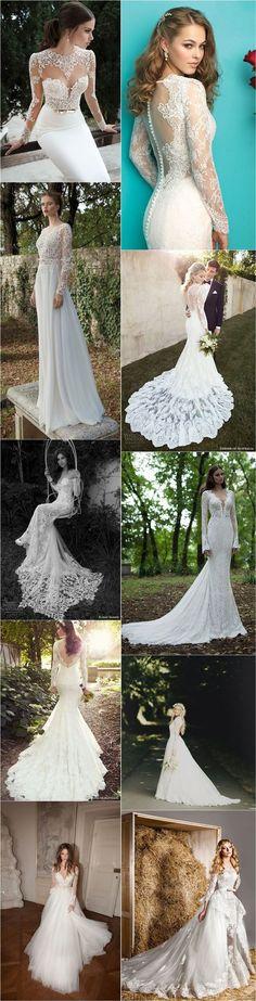 Chic Long Sleeve Lace Wedding Dresses