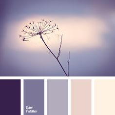 Restrained, cold palette in which there is nothing superfluous. The combination of dark blue-violet and cornflower blue with pastel-pink shades tones looks. Colour Pallette, Color Palate, Colour Schemes, Color Patterns, Purple Palette, Room Colors, House Colors, Paint Colors, Colours