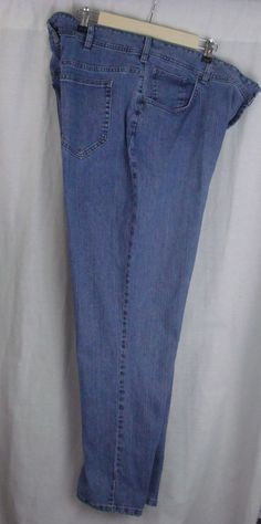 RIDERS BY LEE Women's Jeans Plus Size 24W M Relaxed Fit Blue 5 Pockets #RidersbyLee #RelaxedFit