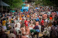 The cereal market of Konso, Omo valley, ethiopia