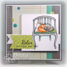 My Cats Favorite Chair (by Broni Holcombe) #ADFD, #ADayForDaisies)