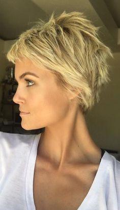 Admin Choppy Blond Pixie Cut More