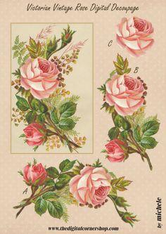 Victorian Vintage Rose Decoupage