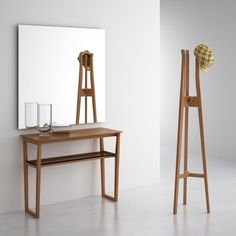 Maralba Console - AJAR furniture and design Hallway Furniture, Fine Furniture, Wooden Furniture, Muebles Home, Curtain Holder, Standing Coat Rack, Minimal Home, Diy Wood Projects, Wood Pallets