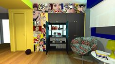 Roy Lichtenstein  BAR POP ART INTERIOR DESIGN VIVIANE BERGMANN CASA ESTUDIO PORTO ALEGRE RS BRASIL