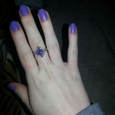 Purple mani and ring