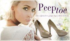 Nova coleção de peep toes da Shoes4you <3