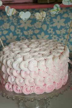 Pink ombre rosette cake... gorgeous!