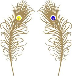 2 peacock feathers. Can be found at www.tenkaytrends.com