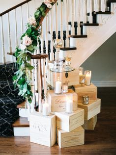 Rustic & romantic wedding decor: http://www.stylemepretty.com/arizona-weddings/scottsdale/2015/06/01/coming-home-an-elegant-backyard-wedding/ | Photography: Ace & Whim - http://aceandwhim.com/