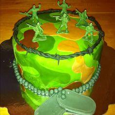 Seths fondant Army cake! Army Cake, Toy Story Party, Take The Cake, Fondant, Birthdays, Cakes, Desserts, Food, Fondant Icing