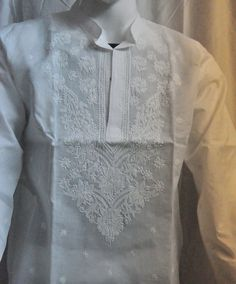 Plus size spring dress for Men White Long kurta tunic Beach Wedding shirt unique… Spring Dress For Men, Plus Size Spring Dresses, Plus Size Outfits, Unique Gifts For Him, Wedding Shirts, Plus Size Shirts, Embroidered Tunic, Cotton Style, Summer Looks