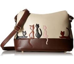 This is one of the most adorable Leatherette Crossbody bags. Puuurfect for cat lovers and owners.