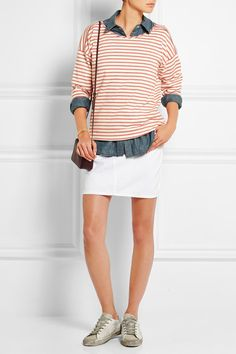 Madewell | Gloria striped cotton-jersey top | NET-A-PORTER.COM