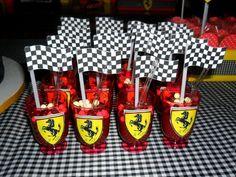Rossana C's Birthday / Ferrari - Photo Gallery at Catch My Party Hot Wheels Birthday, Hot Wheels Party, Car Themed Parties, 10th Birthday Parties, Ferrari Party, Disney Cars Party, Race Car Party, Party Themes For Boys, Festa Party