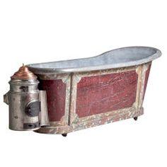 An Early 19th Century Portable Zinc Bath