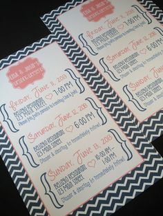 Welcome Letters / Itineraries by modernsoiree on Etsy, $1.50