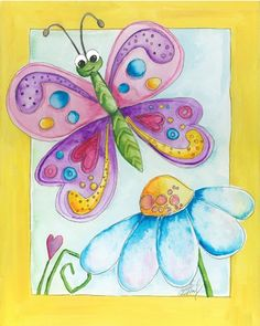 #nursery #art Bella #Butterfly Art Print (8X10) $16 on www.bealookids.com