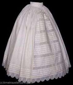 Petticoat Why is it that vintage underwear is prettier than most clothes that day? Civil War Fashion, 1800s Fashion, Victorian Fashion, Vintage Fashion, Antique Clothing, Historical Clothing, Historical Costume, Retro Mode, Vintage Mode