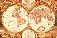 Antique world map 1000pc jigsaw puzzle by eurographics puzzles tomax jigsaw puzzles historical world map gumiabroncs Choice Image