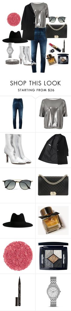 """Untitled #21"" by roxana-1234 ❤ liked on Polyvore featuring Diesel, River Island, Vetements, Ray-Ban, Chanel, Yves Saint Laurent, Burberry, Christian Dior, Smith & Cult and FOSSIL"