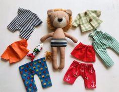 Lion Fabric Toy Handmade Lion with Organizer Bag Toy Set Lion Toys, Etsy Fabric, Diy Bebe, Fabric Toys, Bear Doll, Sewing Toys, Bag Organization, Felt Toys, Toys For Girls